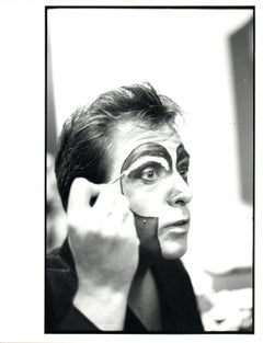 Peter Gabriel Painting His Face in Mirror Vintage Original Photograph