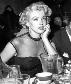 Marilyn Candid at Dinner Fine Art Print