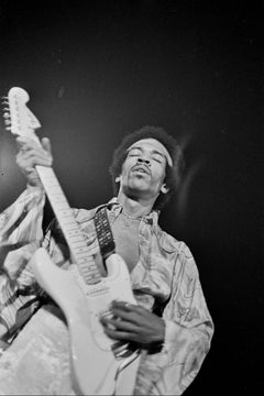 Jimi Hendrix Performing on Stage With Eyes Closed Fine Art Print