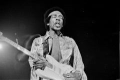 Jimi Hendrix in Action on Stage Fine Art Print