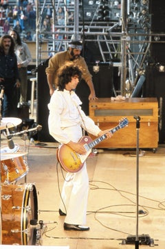 Jimi Page of Led Zeppelin on Stage Fine Art Print
