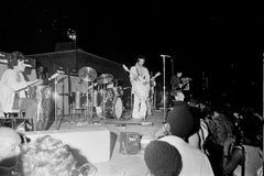 Jimi Hendrix and the Experience on Stage Fine Art Print