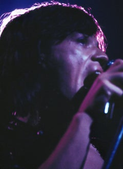 Closeup of Mick Jagger on Stage Fine Art Print