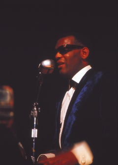 Ray Charles Performing on Stage Fine Art Print