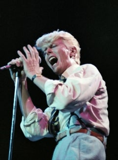 "David Bowie Singing in ""Serious Moonlight"" Tour Fine Art Print"