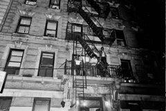 Tenants Singing Out Windows During Jimi Hendrix Concert in Harlem Fine Art Print