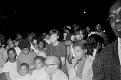 Crowd Gathered to See Jimi Hendrix in Harlem Fine Art Print