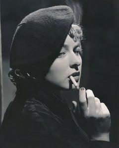 Ingrid Bergman Smoking Fine Art Print