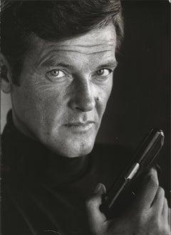 Roger Moore as James Bond Fine Art Print