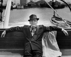 Frank Sinatra Sitting on Bench Fine Art Print