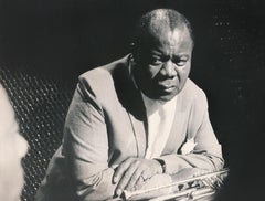 Louis Armstrong in West Germany Fine Art Print
