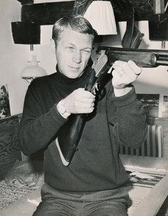 Steve McQueen Loading Shotgun Fine Art Print