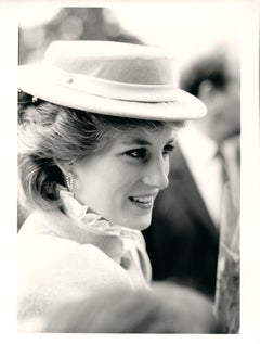 Candid Princess Diana in Hat Vintage Original Photograph