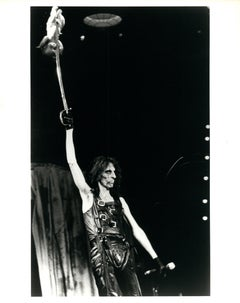 Alice Cooper on Stage with Sword Vintage Original Photograph