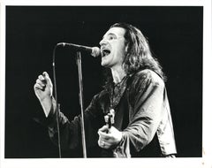 Bono Singing Passionately on Stage Vintage Original Photograph