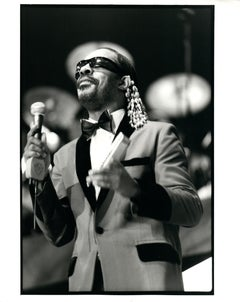 Stevie Wonder on Stage Vintage Original Photograph