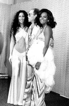Cher, Elton John, and Diana Ross at Studio 54 Fine Art Print