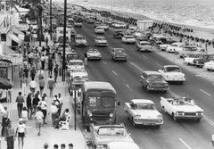 Busy Beach Street Scene Americana U.S.A. Fine Art Print