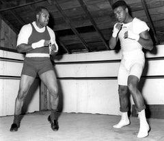 Archie Moore and Muhammad Ali Training Fine Art Print