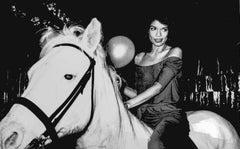 Bianca Jagger Riding a Horse in Studio 54 Fine Art Print