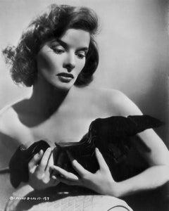 Katharine Hepburn in Black Dress Fine Art Print