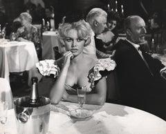 Brigitte Bardot with Champagne Fine Art Print