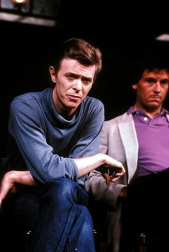 David Bowie Candid with Arms Crossed Fine Art Print