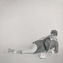 Vintage Connie Stevens on the Telephone Fine Art Print