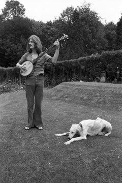 John Paul Jones of Led Zeppelin in his Backyard Fine Art Print