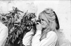 Brigitte Bardot Taking a Picture on the Set of Viva Maria Fine Art Print