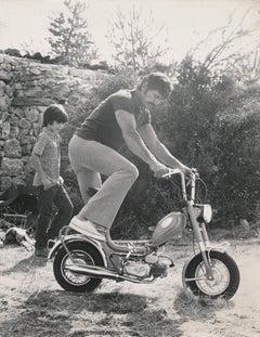 Charles Bronson Riding Tiny Bike Fine Art Print