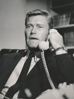 Chuck Connors Talking on the Telephone Fine Art Print