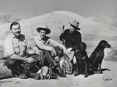 Rare Capture of Ernest Hemingway and Gary Cooper on Hunting Trip Fine Art Print