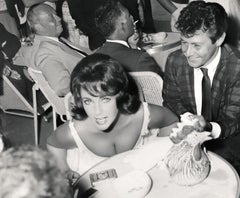 Elizabeth Taylor: Busty Shot at Dinner Fine Art Print