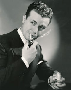 Dick Powell Smoking Fine Art Print