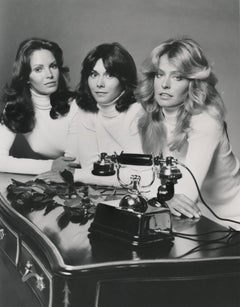 Charlie's Angels Posed on Desk Fine Art Print
