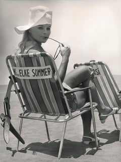 Elke Sommer on the Beach Fine Art Print