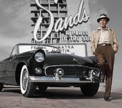 Frank Sinatra at Sands Hotel Colorized Fine Art Print