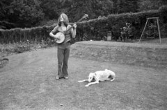 John Paul Jones of Led Zeppelin Playing Banjo Fine Art Print