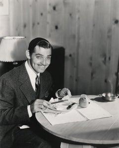 Clark Gable Having Breakfast Fine Art Print