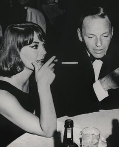Frank Sinatra and Natalie Wood Candid in Hollywood Fine Art Print