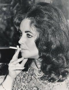 Candid Elizabeth Taylor Smoking Fine Art Print