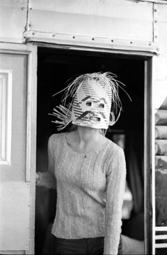 Brigitte Bardot in Scary Mask Behind the Scenes of Viva Maria Fine Art Print