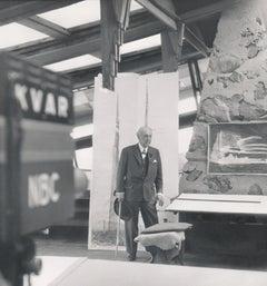 Frank Lloyd Wright in Television Studio Fine Art Print