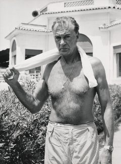 Gary Cooper Shirtless with Towel Fine Art Print