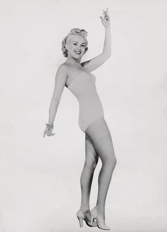Betty Grable Classical Pinup on White Fine Art Print