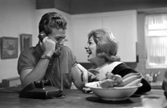 Ryan O'Neal and Joanna Moore Laughing at Home Fine Art Print