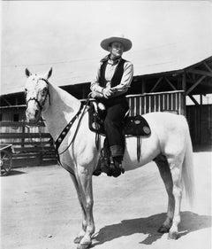 John Wayne Riding a Horse Fine Art Print