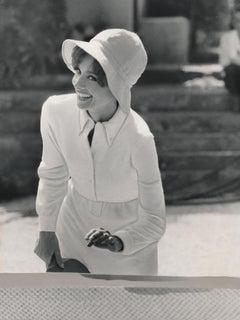 Audrey Hepburn Playing Ping Pong Fine Art Print