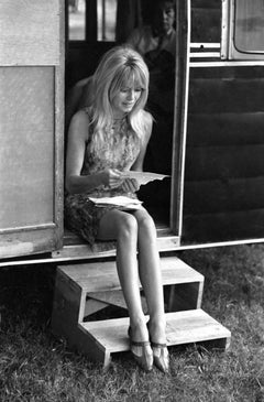 Brigitte Bardot Reading Behind the Scenes of Viva Maria Fine Art Print